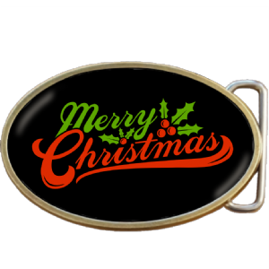 Merry Christmas Belt Buckle. Code A0084